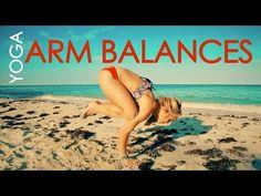 Beach Yoga Arm Balances and Backbends with Kino - YouTube