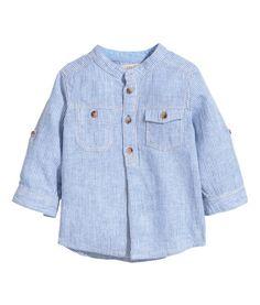 Shirt in Linen Blend | Product Detail | H&M
