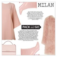 """""""Milan fashion week"""" by simona-altobelli ❤ liked on Polyvore featuring Valentino, Topshop Unique, Givenchy, women's clothing, women, female, woman, misses, juniors and Pink"""