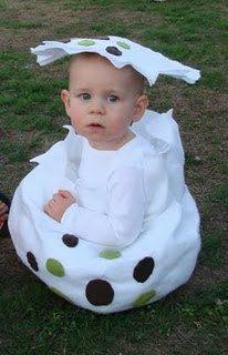 Dinosaur egg costume, cute idea!!!