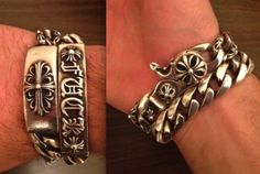 4a9db1abd86f Details about Chrome Hearts ID Lobster Claspe Bracelet