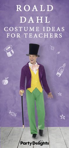 Looking for World Book Day costume ideas for teachers? If your school is dressing up for World Book Day 2018, read our round-up of the best Roald Dahl costume ideas for teachers for inspiration. Roald Dahl Costumes Diy, Roald Dahl Characters Costumes, Roald Dahl Book Characters, Teacher Book Character Costumes, Storybook Character Costumes, Book Characters Dress Up, Book Character Day, Character Dress Up, Book Costumes