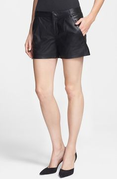 #Vince                    #Bottoms                  #Vince #Leather #Shorts   Vince Leather Shorts                                http://www.snaproduct.com/product.aspx?PID=5204334