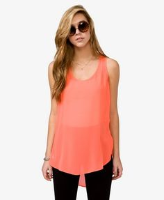 sleeveless chiffon top... cant wait for the summer time!