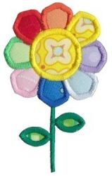 Daisy Applique - 2 Sizes! | Floral - Flowers | Machine Embroidery Designs | SWAKembroidery.com