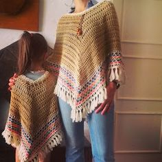 Bo-M: Conjunto Mãe & Filha Camel Wish this were a pattern!