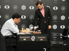 Anand-Aronian (Photo taken from chess-news. Chess, Gingham