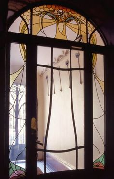 Art Nouveau entryway door by Hector Guimard