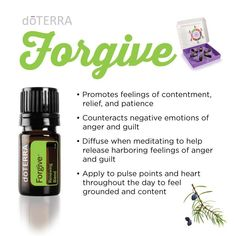 The new doTERRA Forgive Renewing Blend with tree and herb essential oils will…