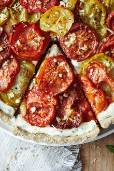 Heirloom Tomato Tart with Gluten Free Crust // Natural Girl Modern World…