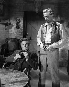 Both young actors in the forties, Glenn Ford was partnered with Bill Holden in two westerns. In both they start out friends but one strays to the wrong side of the law. Each actor had a turn at playing the bad guy in Texas or The Man From Colorado.