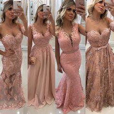 A imagem pode conter: 3 pessoas Dama Dresses, Gold Prom Dresses, Mermaid Dresses, Evening Dresses, Bridesmaid Dresses, Glamorous Dresses, Elegant Dresses, Pretty Dresses, Beautiful Dresses