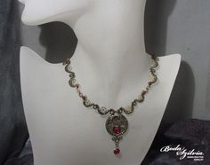 STEAMPUNK PRINCESS bronze and brass necklace. $127.00, via Etsy.