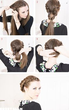 Double Side Dutch Braid into a Bun