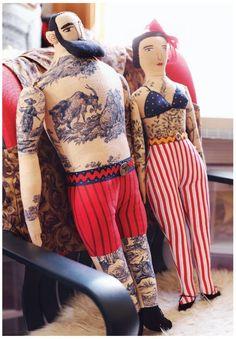 Mimi Kirchner's Tattooed Toile Dolls
