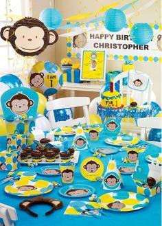 monkey birthday stuff