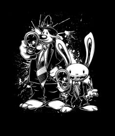 Sam&Max X PulpFiction by crula