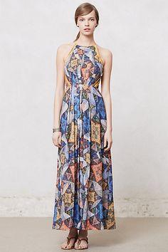 Cute dresses on pinterest anthropologie maxi dresses for Anthropologie mural maxi dress