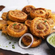 """FoodRush on Instagram: """"Pinwheel Samosas are great party snack which is made with samosa crust and aloo stuffing. This is an interesting twist to Indian street…"""""""