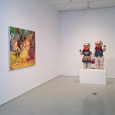 """In observance of Passover the @flagartfoundation will close today Friday April 22 at 3PM and all day Saturday April 23. Image: Installation view of """"Cecily Brown Jeff Koons Charles Ray on view at FLAG through May 14 2016 #CecilyBrown @dellyrose #JeffKoons @jeffkoons #BrownKoonsRay by flagartfoundation"""