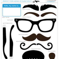 Printable Disguise Kit - Tip Junkie