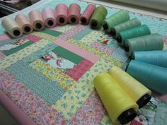 Choosing the quilting thread!