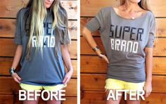 DIY: Dolman Sleeve Tee  How to turn a men's tee into a dolman sleeve top