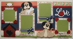 Puppy Love Layout created using Artiste Cartridge. http://www.mypapercrafting.com/2013/02/VDAYSPECIAL.html