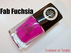 NEW ELF nail polish in Fab Fuchsia at Target!