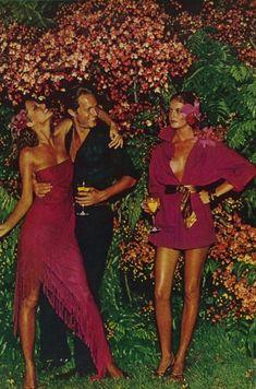 Cheryl Teigs, Rene Russo by Helmut Newton Vogue 1974