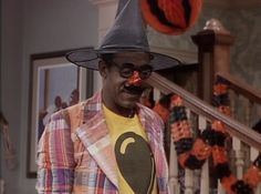 We're not exactly sure what Bill Cosby was supposed to be, but sometimes the last minute costumes can be the best! If you're stuck deciding between a witch and a clown, try watching Halloween themed episodes on TV Land this October! Halloween Themes, Halloween Costumes, The Cosby Show, Last Minute Costumes, Bill Cosby, Tv Land, Captain Hat, Witch, October