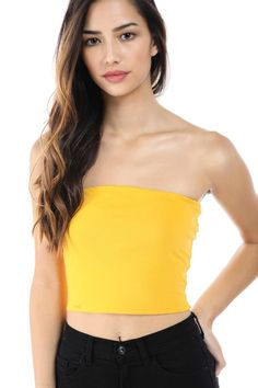 b00937df46 Salt Tree Women s Basic Thick Strapless Cotton Tube Top
