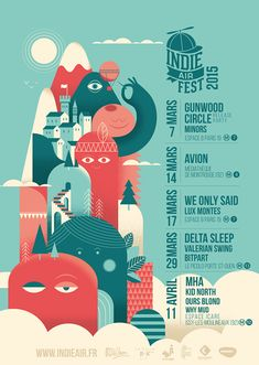 Interesting and informative sight about the use of textures. I love his quote: … – Jasmine Moncalvo Indie Air Fest, 2015 – Event Poster Ideen und Vorlagen Flyer Design, Graphisches Design, Event Poster Design, Creative Poster Design, Poster Design Inspiration, Event Posters, Creative Posters, Graphic Design Posters, Poster Ideas