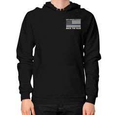 Back the Blue Police Hoodie (on man) Shirt