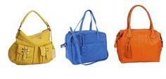 Bolso de Lauren by Ralph Lauren, en azul, de Joe Joe y naranja, de El Corte Inglés.