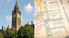 The diagrams, handwritten in painstaking detail, were made between 1860 and by Victorian architect Alfred Waterhouse Manchester Town Hall, The Diagram, Big Ben, England, Victorian, Architecture, Drawings, Building, Travel