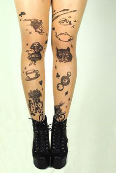 Spring collection - alice in wonderland tights $8.99