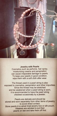 Caring for jewelry with pearls #CareInstructions #KalevalaKoru
