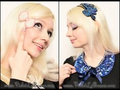 DIY Beaded Bow Hair Clip and Headband Tutorial. Really cute, cheap and easy tutorial from Violet LeBeaux here.