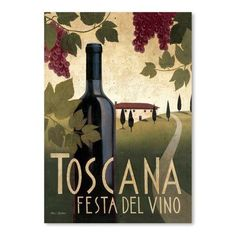 Americanflat Toscana Festa Del Vino Poster Gallery by Marco Fabian Graphic Art