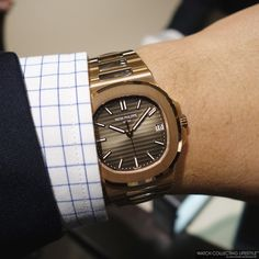 Baselworld 2015: Introducing the Patek Philippe Nautilus in 18K Rose Gold with…
