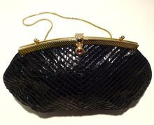 Vintage 80s Judith Leiber Snakeskin Clutch $175