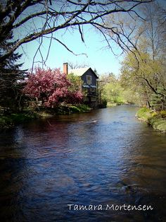This is a photo of the Red Mill in Waupaca County Wisconsin