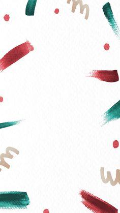 Red and green brush stroke Christmas background mobile phone wallpaper vector Black Christmas, Christmas Note, Christmas Frames, Christmas Paper, Christmas Cookies, Christmas Decor, Christmas Wreaths, Holiday Iphone Wallpaper, Christmas Phone Wallpaper