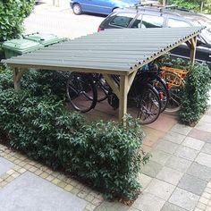 fietsenhok van tuinhout www.woody-woody.nl