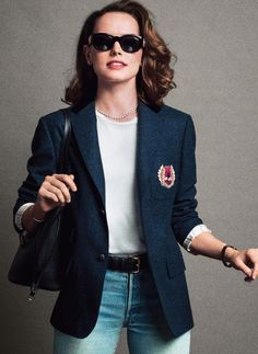 Diasy Ridley 80s/90s casual elegance