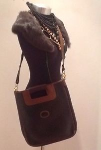 Vintage Gucci Leather Large Handbag Designer Bag