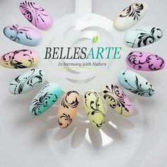 Diseño #nailsart con gel paint