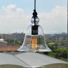 lumière pendante avec Bell Desgined ombre de verre (cordon / chaîne réglable) - EUR € 49.99