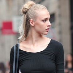 half up hair on the streets of Paris